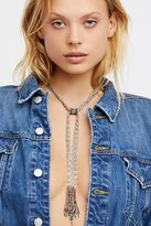 Free People Crochet Chain Turquoise Stone Bolo
