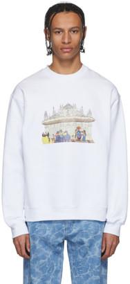 MSGM White Milano Sweatshirt