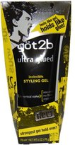 Got2b Ultra Glued Invincible Styling Gel, 6-Ounce (Pack of 2)