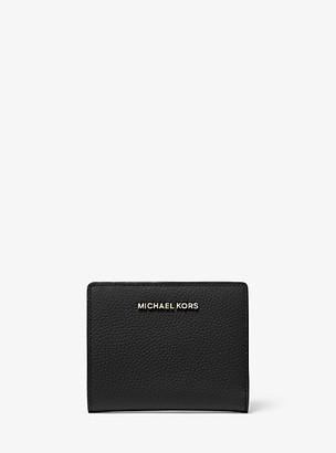 MICHAEL Michael Kors MK Medium Pebbled Leather Wallet - Black - Michael Kors