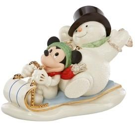 Lenox Snowy Day With Mickey Figurine