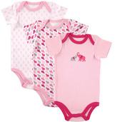 Luvable Friends Pink & White Elephant Bodysuit Set - Infant