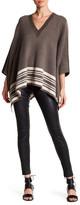 Vince Border Stripe Wool & Cashmere Blend Poncho