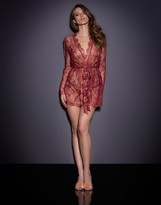 Agent Provocateur Inka Gown Red/Gold