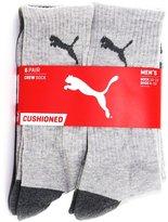 Puma Men's CUSHIONED Crew Socks - 6 Identical Pairs
