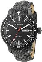 Fortis Men's 647.18.31 LP Analog Display Automatic Self Wind Black Watch