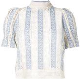 Sea victorian style stripe blouse - women - Cotton - 6