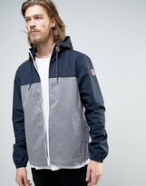 Element Alder Hooded Jacket 2 Tone In Navy/grey Heather