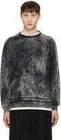 Robert Geller Black Acid Wash Pullover