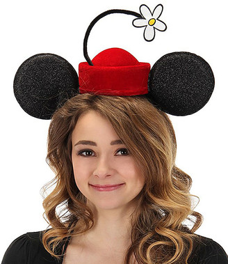 Elope Women's Masks and Headgear black/red - Disney Minnie Mouse Vintage Flower Hat Headband