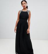 TFNC Petite Petite Embellished Back Maxi Bridesmaid Dress