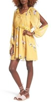 Moon River Women's Floral Split Sleeve Dress