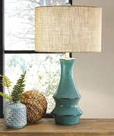 Signature Design by Ashley Antique Teal Jenci Table Lamp
