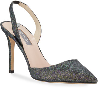 Sarah Jessica Parker Bliss Metallic Glitter Low-Heel Pumps