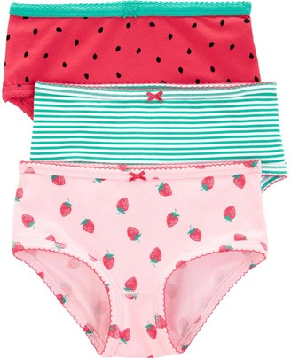 Carter's Girls 4-12 3-Pack Stretch Cotton Undies