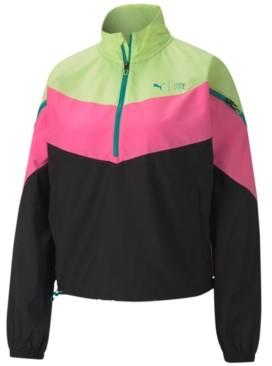 Puma Train First Mile Xtreme Colorblocked Half-Zip Training Jacket