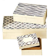 One Kings Lane Asst. of 3 Isabella Boxes - Cream/Slate