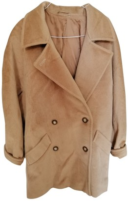 Max Mara 101801 Beige Wool Coat for Women Vintage