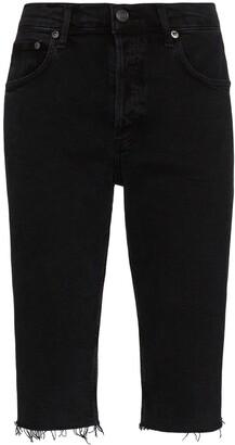 A Gold E Frayed Denim Shorts