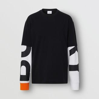Burberry ogo Print Seeve Cotton T-shirt