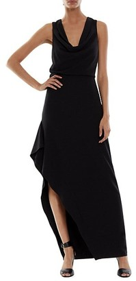 Halston Effie Cowl Neck Gown