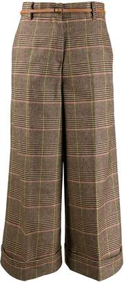 Santi ALESSIA checked pattern palazzo trousers