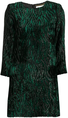 Saint Laurent Animal Print Mini Dress