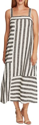 Vince Camuto Stripe Linen Blend Sundress