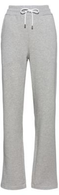 HUGO BOSS Regular Fit Pants In French Terry With Zipped Hems - Grey