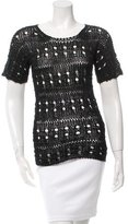 Derek Lam Open Knit T-Shirt w/ Tags