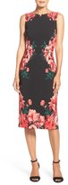 Maggy London Print Crepe Midi Dress