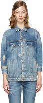 R 13 Blue Denim Oversized Trucker Jacket