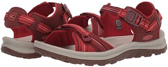 Keen Terradora II Open Toe Sandal (Dark Red/Coral) Women's Shoes