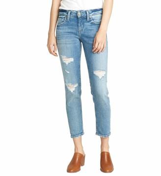 Silver Jeans Co. Women's Boyfriend Mid Rise Slim Leg Jeans