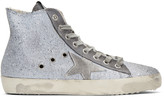 Golden Goose Deluxe Brand Grey Glitter Francy High-Top Sneakers