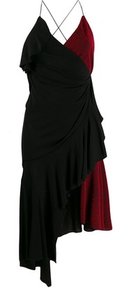 Philosophy di Lorenzo Serafini Asymmetric Wrap-Style Color-Block Dress