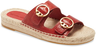 Tory Burch Selby Two-Band Espadrille Slide Sandal