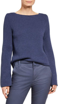 Vince Boat-Neck Long-Sleeve Cashmere Sweater