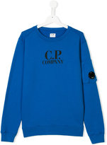Cp Company Kids logo print sweatshirt