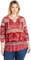 Lucky Brand Women's Printed Knit Top