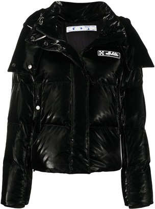 Off-White Button-Front Puffer Coat