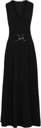 Stella McCartney Isabella Belted Stretch-crepe Maxi Dress