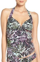 Tommy Bahama Women's Lively Leaves Shirred Halter Tankini Top