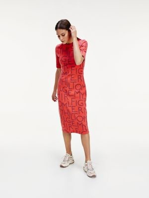 Tommy Hilfiger Rope Print Slim Fit Dress
