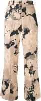 Dries Van Noten reefs print cropped trousers