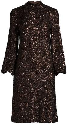 Lafayette 148 New York Axton Embellished Long-Sleeve Dress