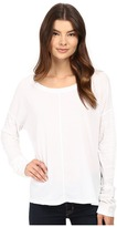 Heather Cotton & Gauze Long Sleeve Boxy Tee