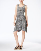 Style&Co. Style & Co. Petite Printed Crochet-Back Dress, Only at Macy's