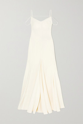 Jacquemus Open-back Cutout Linen Gown - Cream