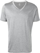 Eleventy V-neck T-shirt - men - Silk/Cotton - L